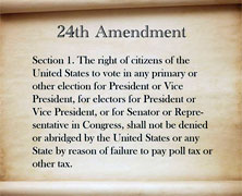 24th Amendment to U.S. Constitution