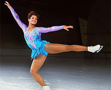 Debi Thomas Wins the Woman's Figure Skating Singles