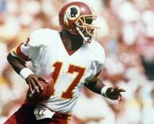 Doug Williams, the first African American quarterback to play in a Super Bowl game, is named MVP in Super Bowl XXII.