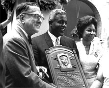 Jackie Robinson Inducted into the Baseball Hall of Fame