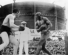 Jack Johnson Wins Heavyweight Boxing Title